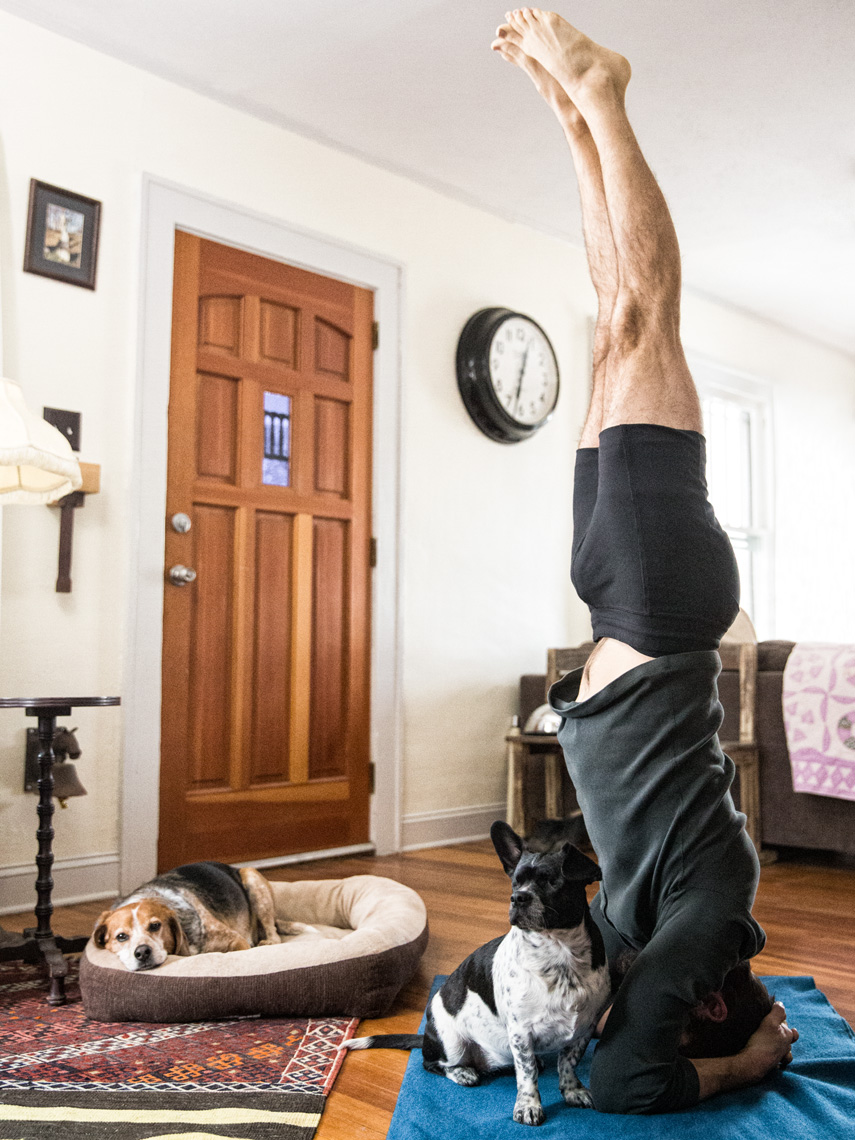 Los Angeles Dog Photography, Michael Brian, Yoga with dog, Purina ONE, Zeus Jones, 28 Day Challenge, Asheville, North Carolina