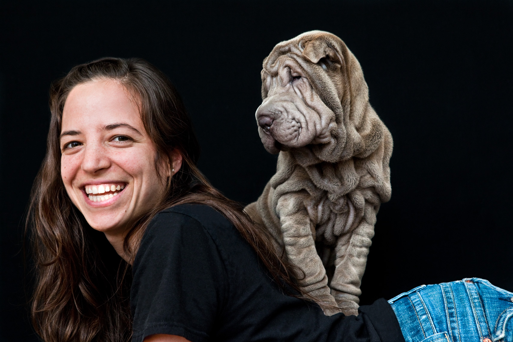 Los Angeles Dog Photography, Michael Brian, Woman, Blue Shar Pei puppy, Cesar