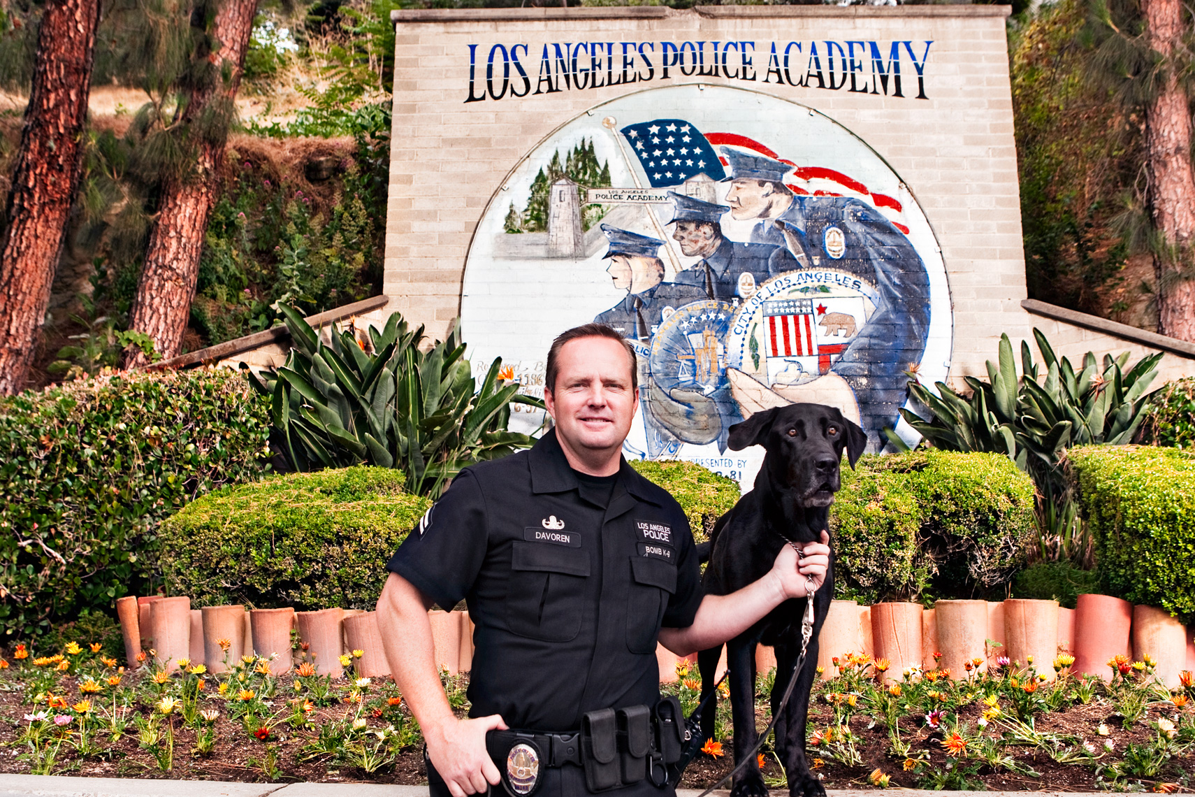 Los Angeles Dog Photography, Michael Brian, LAPD Officer and K-9, Cesar Millan, Los Angeles Police Department, Cesar