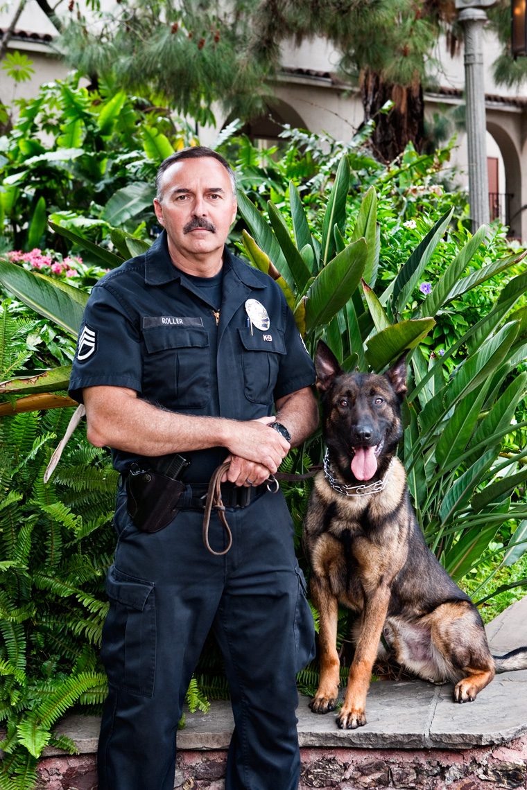 Los Angeles Dog Photography, Michael Brian, LAPD Officer and K-9, Blegian Malinois, Cesar Millan, Los Angeles Police Department, Cesar