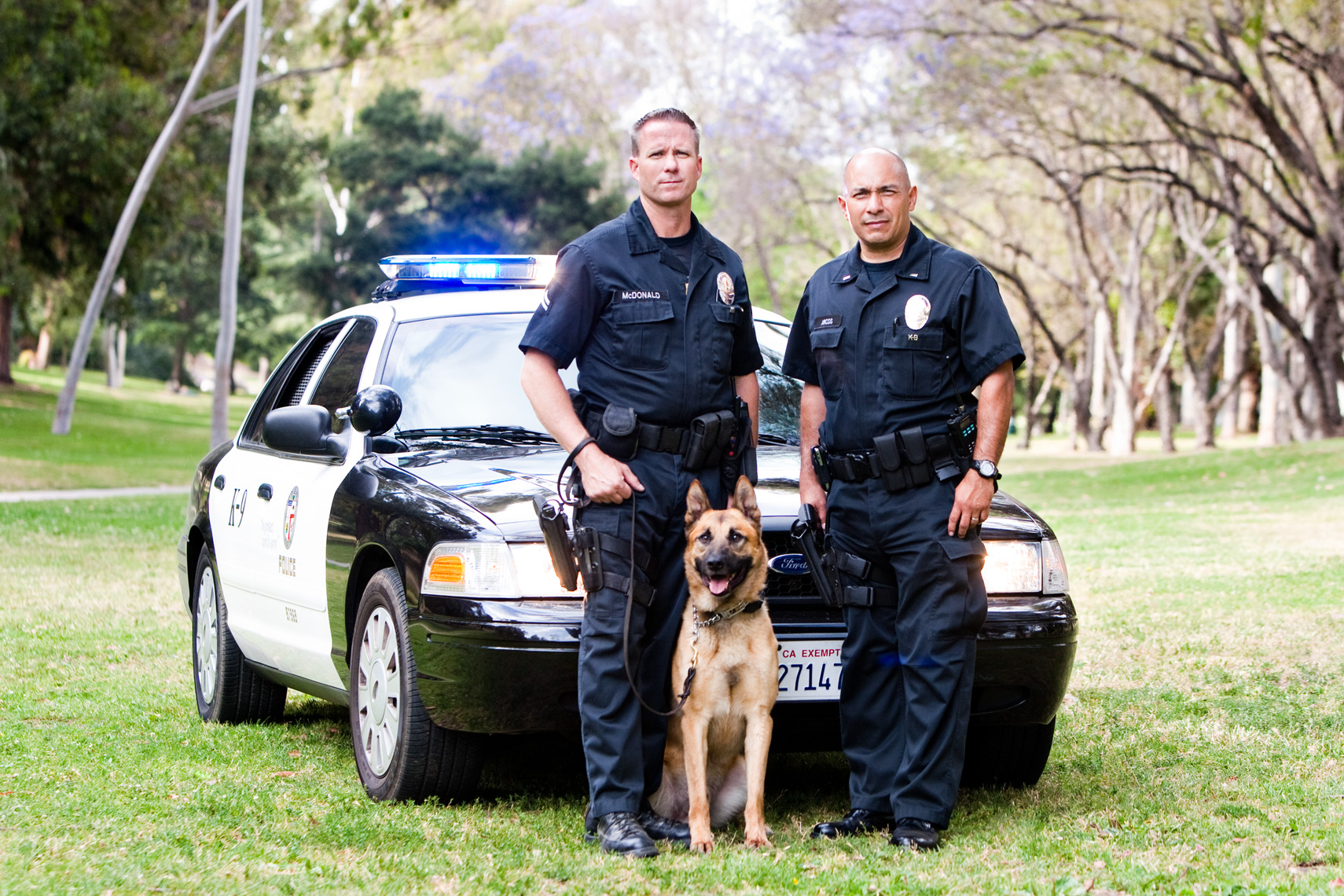 Los Angeles Dog Photography, Michael Brian, LAPD Officers and K-9, Blegian Malinois, Cesar Millan, Los Angeles Police Department, Cesar