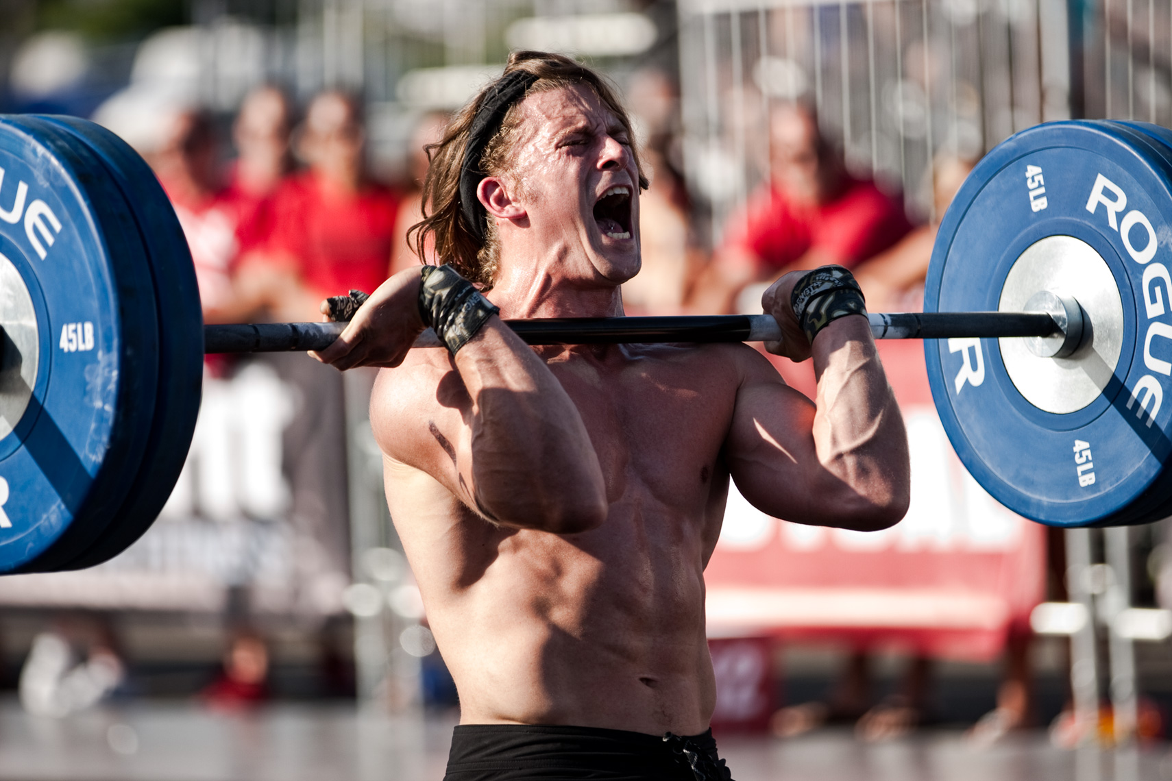 Los Angeles Sports Photography, Michael Brian, athlete, Crossfit, Basil Beaty, Southern California Regionals, power clean, agony, painful