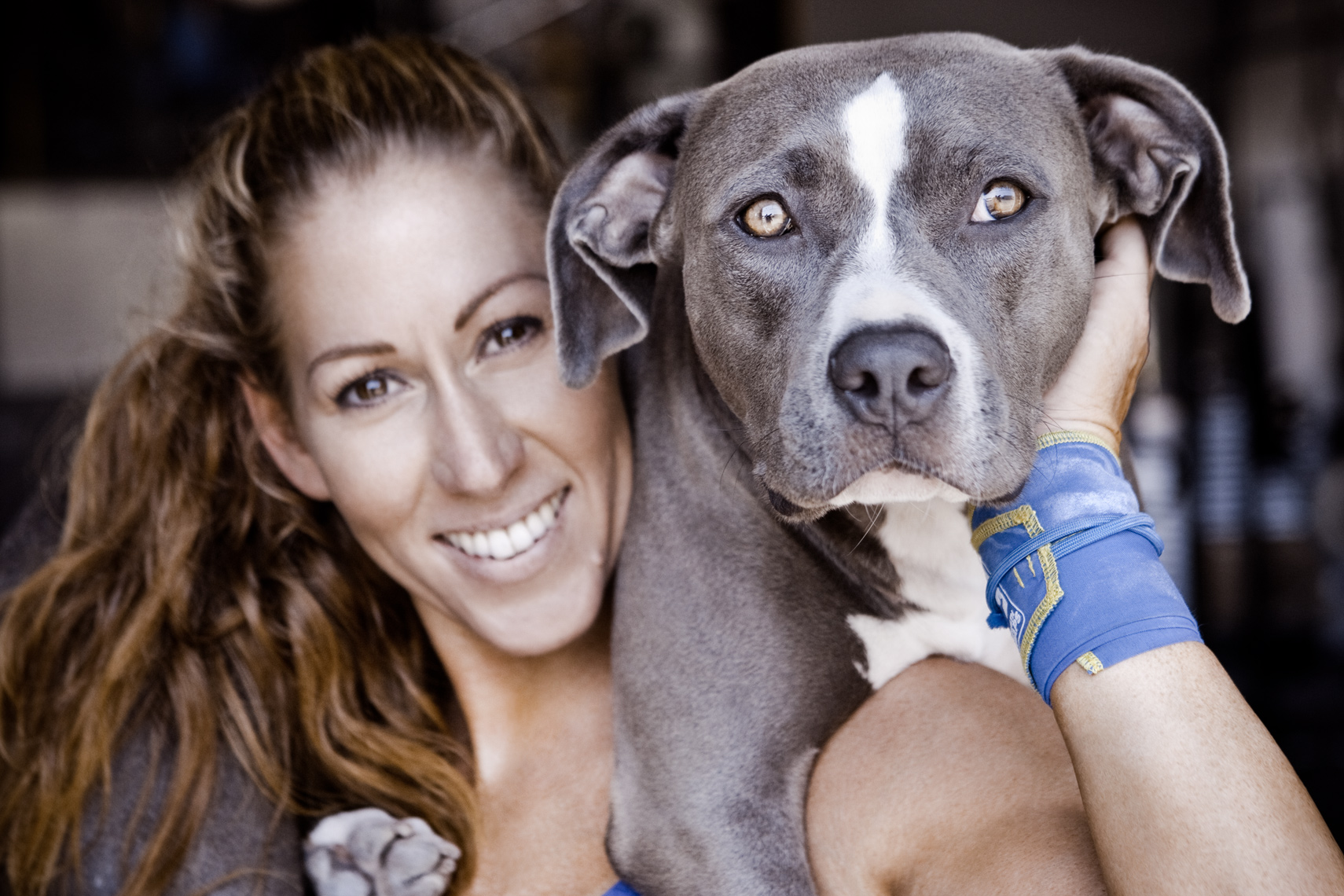 Crossfit, LA Dog Photography, Michael Brian, Los Angeles Sports, Kelly Urbani, Strength Wraps, Blue Nose Pit Bull, Orange Coast Crossfit