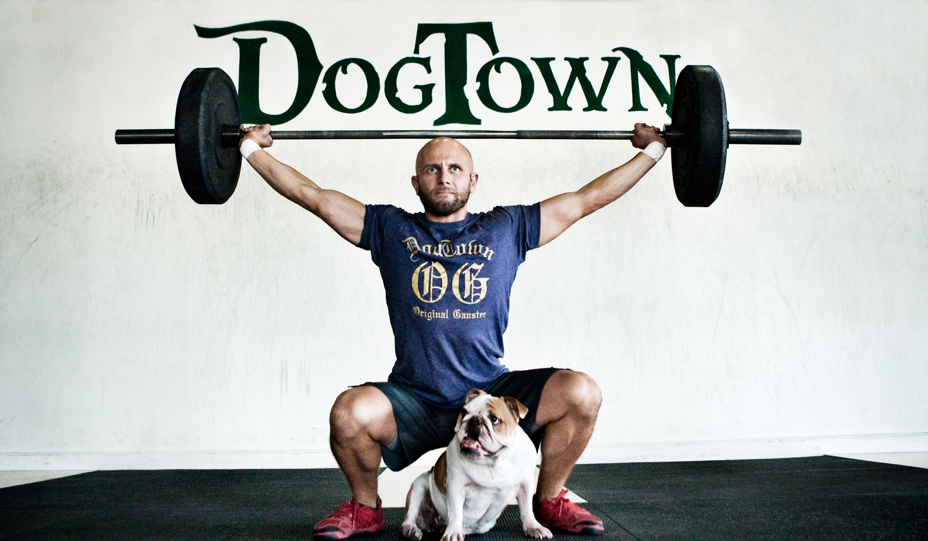 Crossfit, LA Dog Photography, Michael Brian, Los Angeles, Sports, Bulldogs and barbells, Josh Gallegos overhead squatting at Dogtown Crossfit