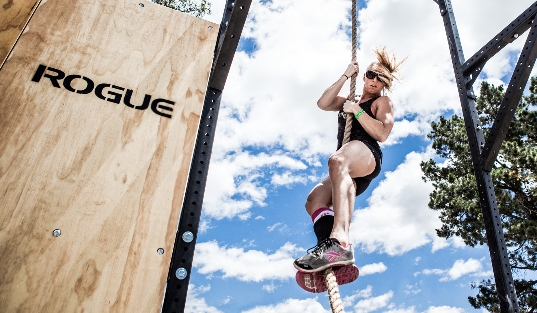 Los Angeles Sports Photography, Michael Brian, athlete, female, Crossfit, rope climb, Rogue