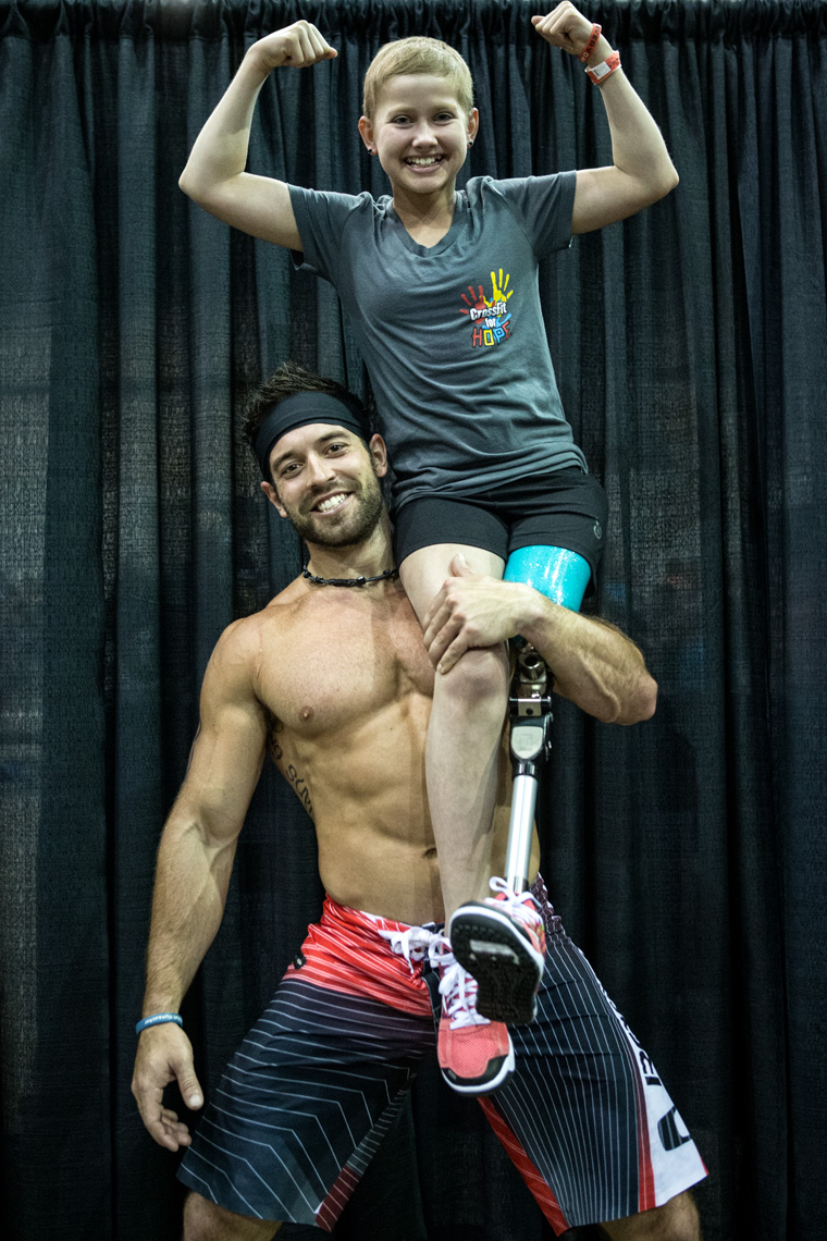 Los Angeles Sports Photography, Michael Brian, athlete, Rich Froning with Kate Foster, Cossfit for Hope, Fittest Man on Earth, Reebok Crossfit Games Champion, Rogue