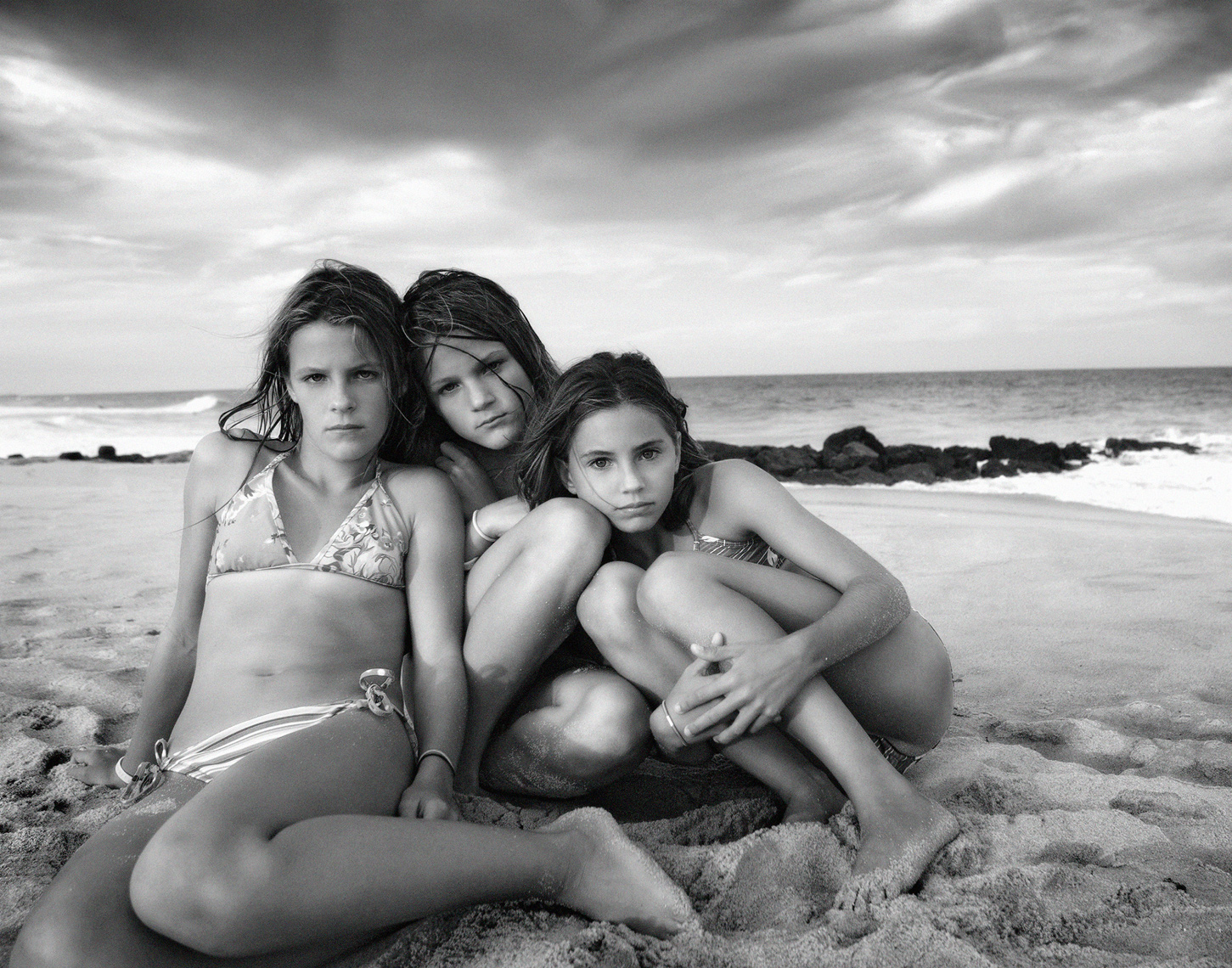Three teen surfer girls, Michael Brian Kids Photography, Los Angeles, beach girls, bikinis