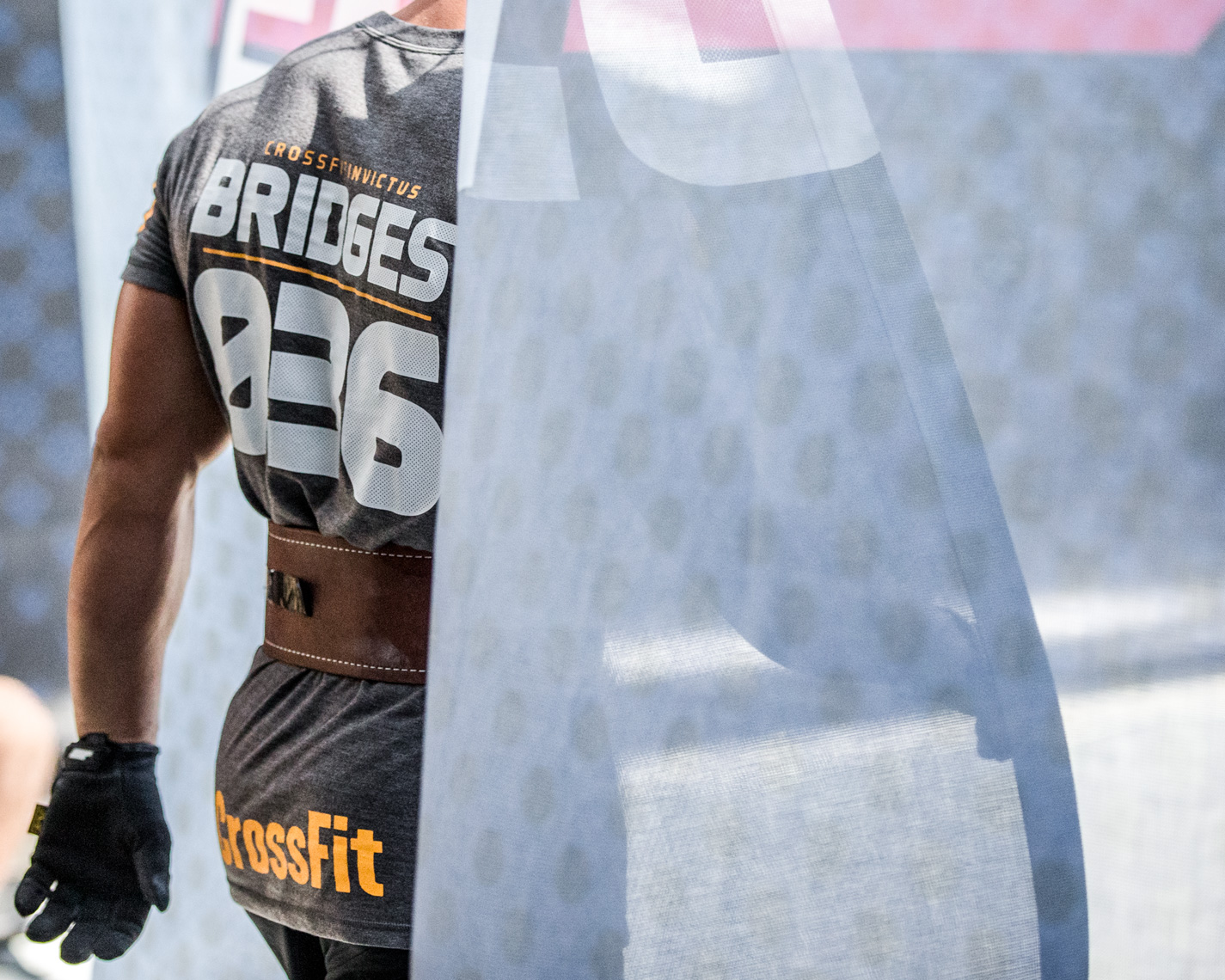 Los Angeles Sports Photography, Michael Brian, Josh Bridges, Nike, Reebok Crossfit Games athlete, enters arena for final event, Rogue, StubHub Center