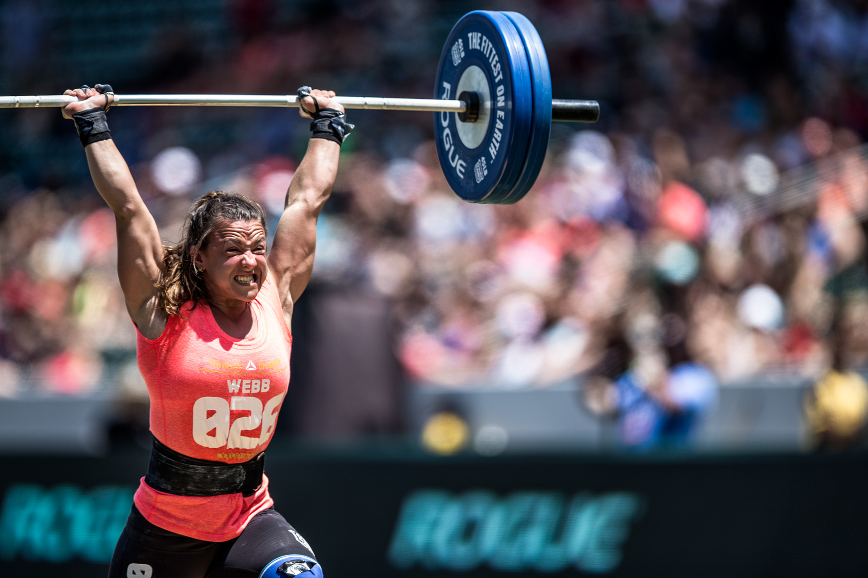 Los Angeles Sports Photography, Michael Brian, athlete, female, Kara Webb, Reebok Crossfit Games Australian athlete, Clean and Jerk Ladder, StubHub Center
