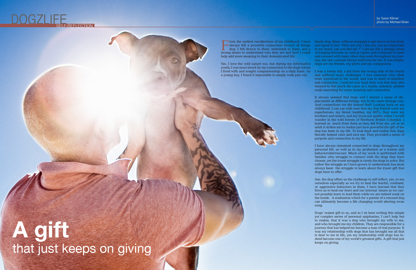 Los Angeles Dog Photography, Michael Brian, Tyson Kilmer, Dog Trainer, Blue Nose Pit Bull
