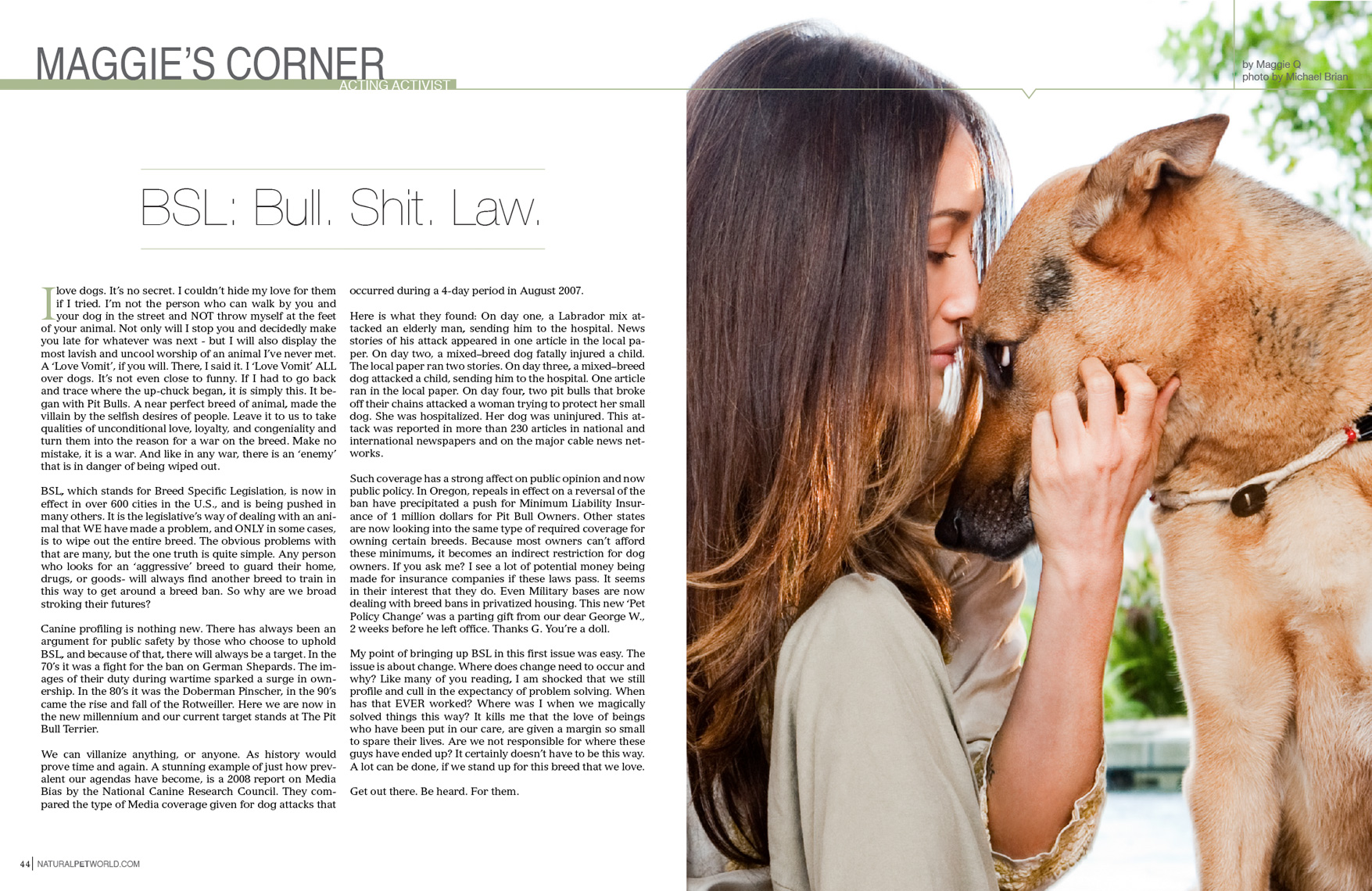 Los Angeles Dog Photography, Michael Brian, Maggie Q, actress, animal activist, BSL
