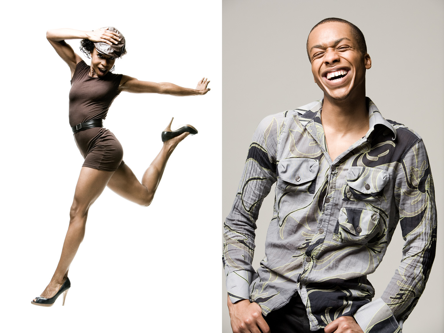 Los Angeles Portrait Photography, Michael Brian, pet, cat, dance, Amazing African American male and female dancers showcasing their talent, studio portraits